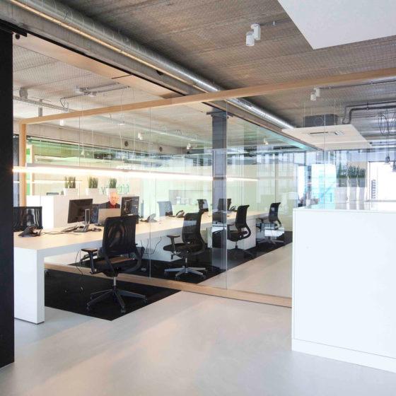 Urban velvet Betonlook Licht kantoor