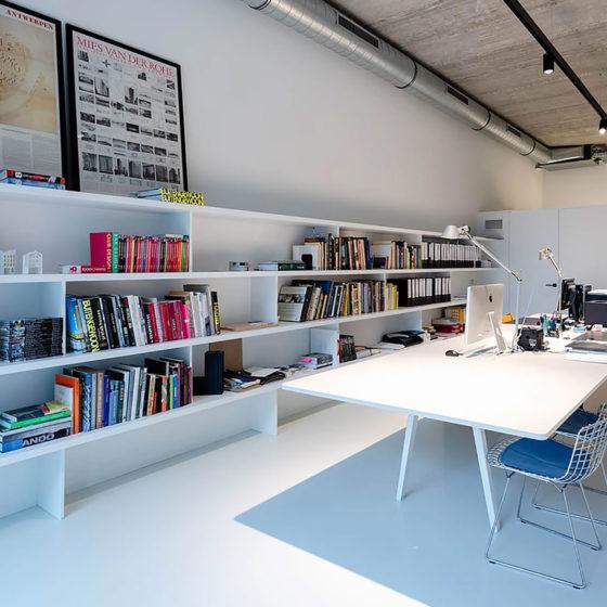 Urban Velvet PU kantoor witte gietvloer